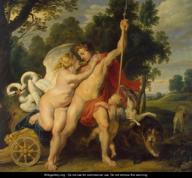 Venus and Adonis - Peter Paul Rubens