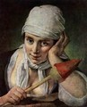 Young Girl with Distaff - Pietro Antonio Rotari