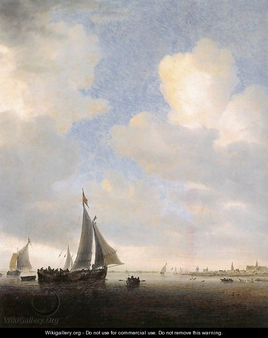 View of Alkmaar from the Sea - Salomon van Ruysdael