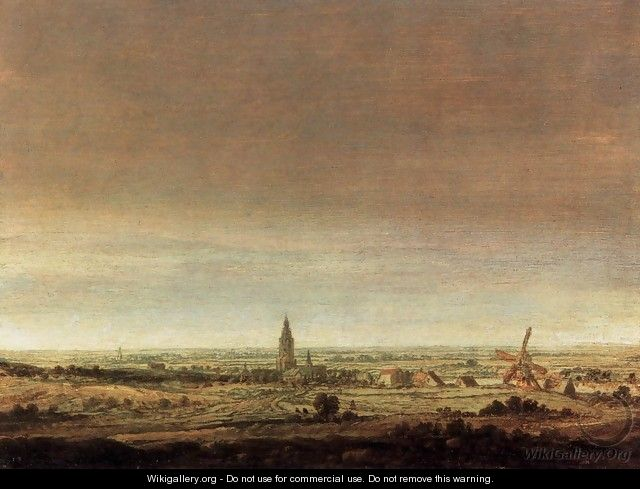 Landscape with City on a River - Hercules Seghers