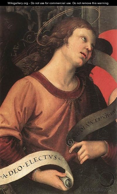 Angel (fragment of the Baronci Altarpiece) - Raffaelo Sanzio