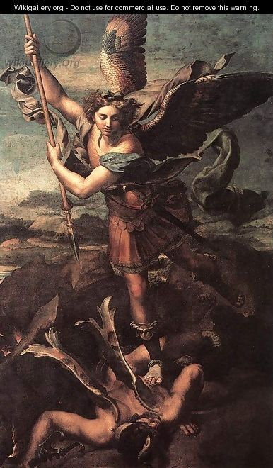 St Michael and the Devil - Raffaelo Sanzio