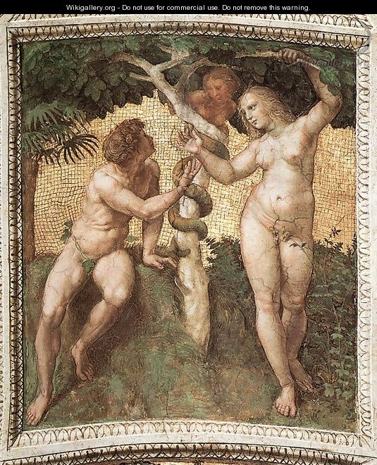 Adam and Eve (ceiling panel) 2 - Raffaelo Sanzio