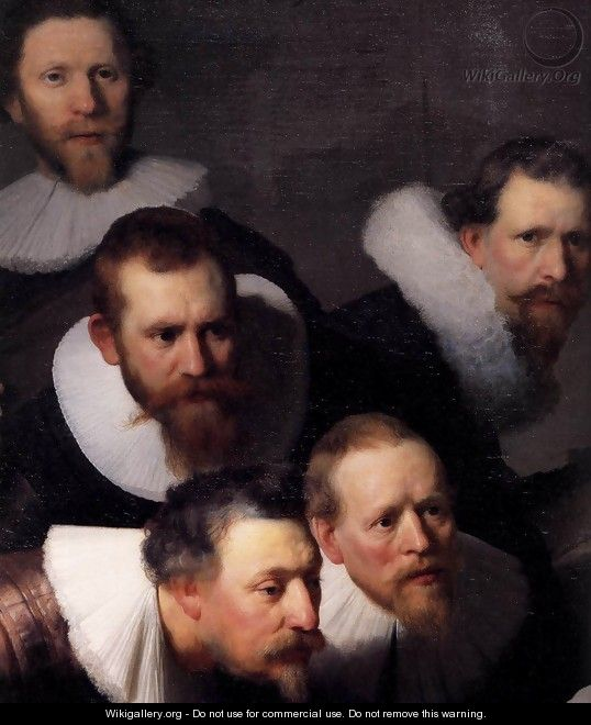 The Anatomy Lecture Of Dr Nicolaes Tulp Detail Rembrandt Van