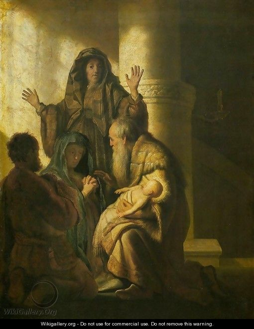 Simeon and Anna Recognize the Lord in Jesus - Rembrandt Van Rijn