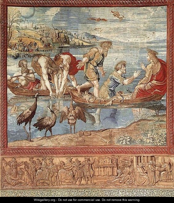 The Miraculous Draught of Fishes - Raffaelo Sanzio