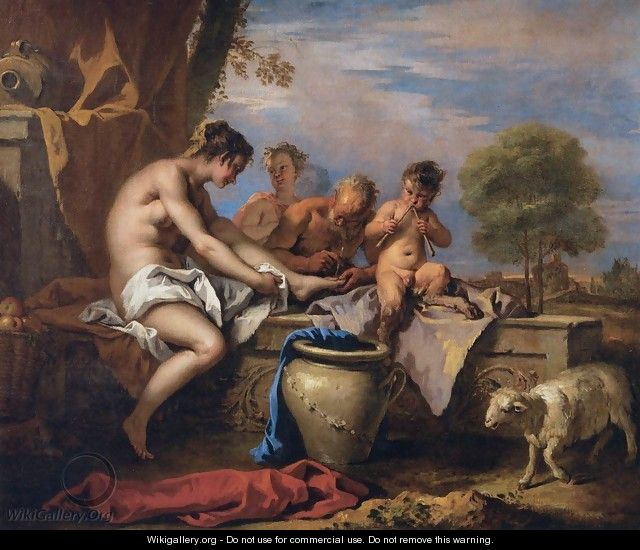 Nymph and Satyrs - Sebastiano Ricci