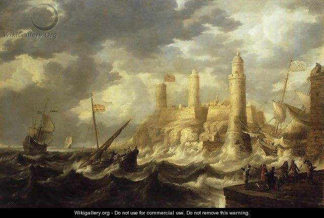 Fortified Harbour - Bonaventura, the Elder Peeters