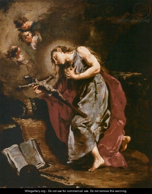 The Penitent Magdalene - Giovanni Battista Pittoni the younger