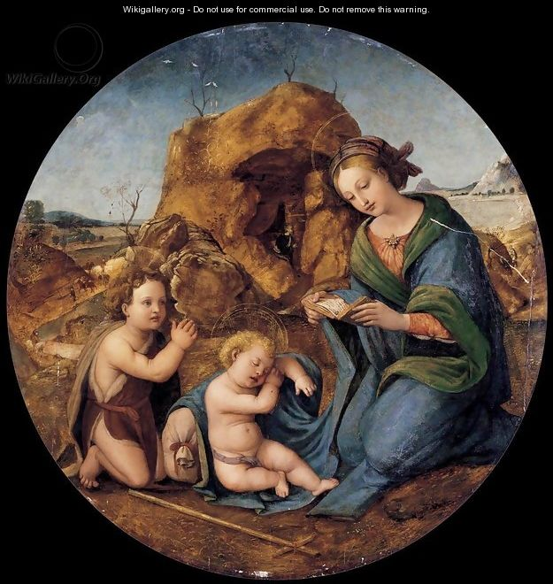 Madonna and Sleeping Christ Child with the Infant St John the Baptist - Piero Di Cosimo