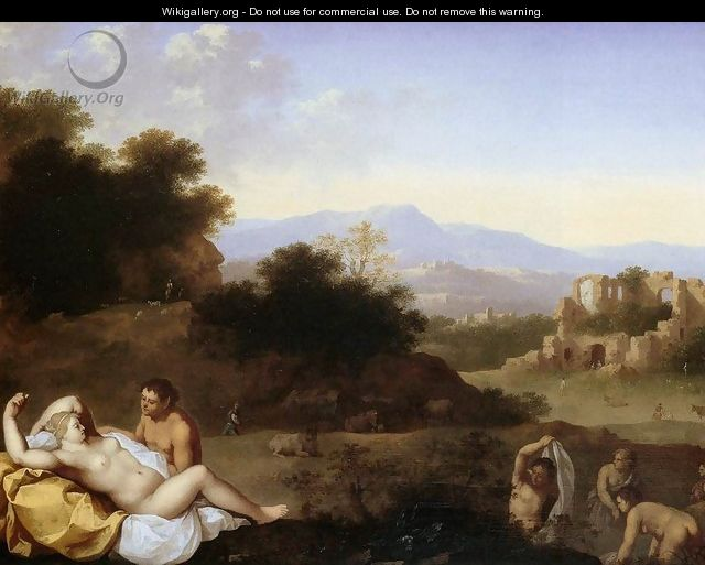 Landscape with Nymphs - Cornelis Van Poelenburgh