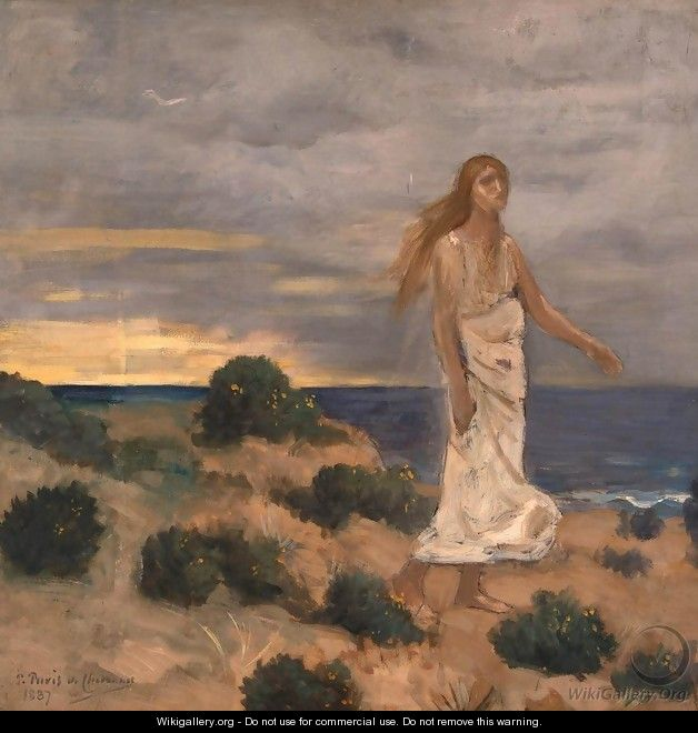 Woman on the Beach - Pierre-Cecile Puvis de Chavannes