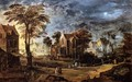 Village at Full Moon - Joos De Momper