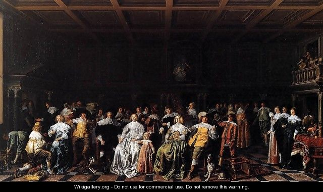 The Marriage of Willem van Loon and Margaretha Bas - Jan Miense Molenaer