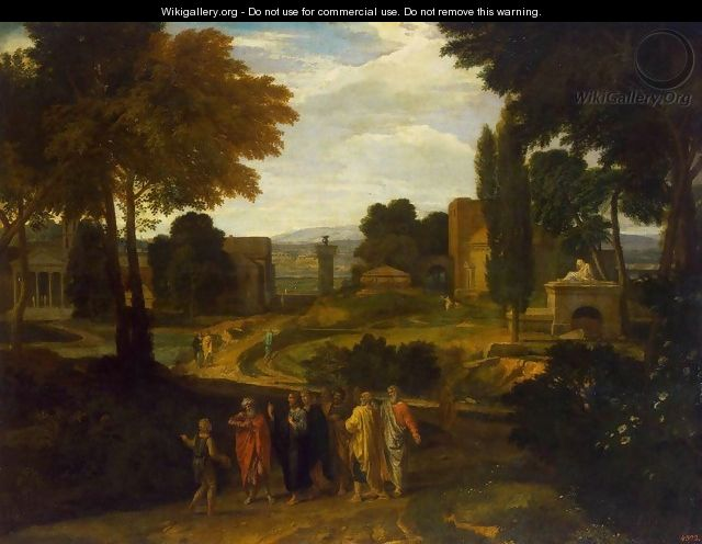 Landscape with Christ and His Disciples - Francisque Millet