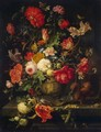 Vase of Flowers - Abraham Mignon