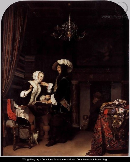 The Cloth Shop - Frans van Mieris
