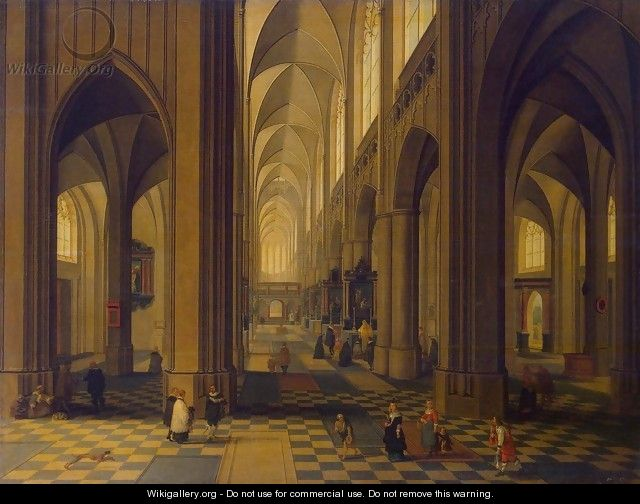 Interior of the Antwerp Cathedral - Peeter, the Younger Neeffs