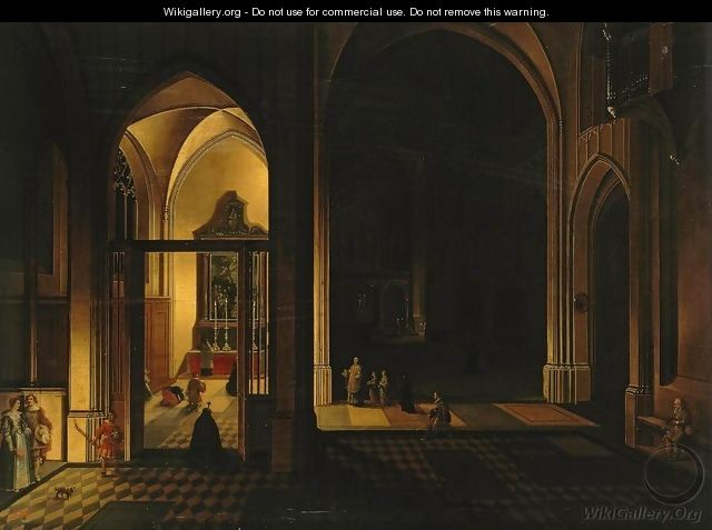 Interior of a Gothic Church 2 - Peeter, the Elder Neeffs