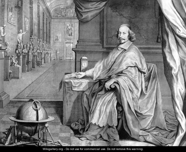 Cardinal Mazarin in His Palace - Robert