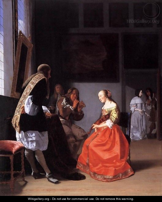 Musical Company in an Interior - Jacob Ochtervelt