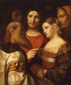 Christ and the Woman Taken in Adultery - Jacopo d'Antonio Negretti (see Palma Vecchio)