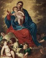 The Madonna with Design of a Shrine - (Alessandro) Padovanino (Varotari)