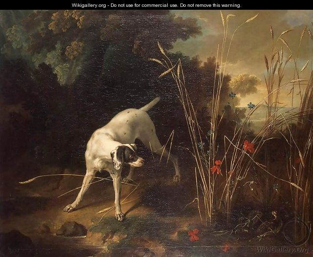 Dog Pointing a Partridge - Jean-Baptiste Oudry