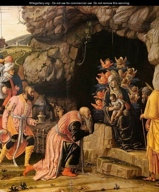 The Adoration of the Magi (detail) - Andrea Mantegna