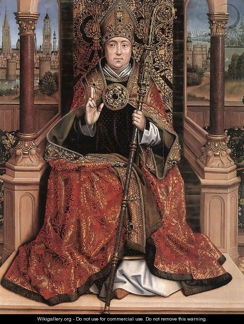 St Nicholas Altarpiece (central panel) 2 - Master of the Saint Lucy Legend
