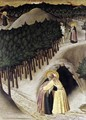 St Anthony Goes in Search of St Paul the Hermit 2 - Master of the Osservanza