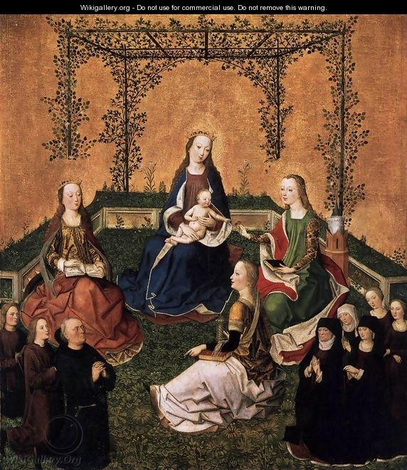 Virgin and Child with Three Saints - Master of the Life of the Virgin