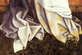 Virgin and Child (detail) - (Robert Campin) Master of Flémalle