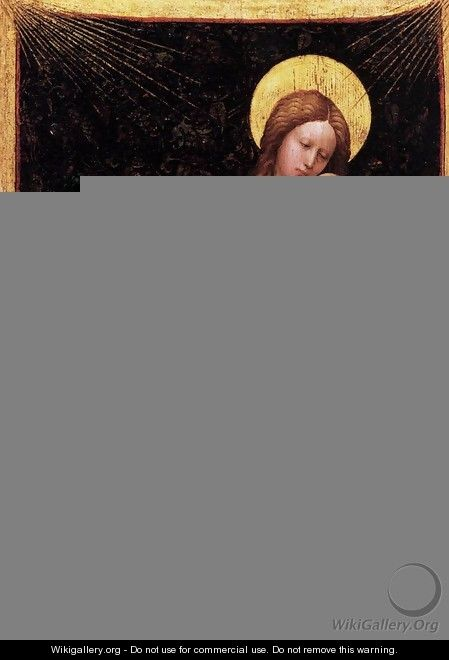 Madonna by a Grassy Bank - (Robert Campin) Master of Flémalle