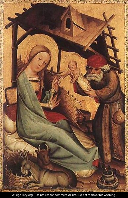 Nativity, panel from Grabow Altarpiece - (Master of Minden) Bertram