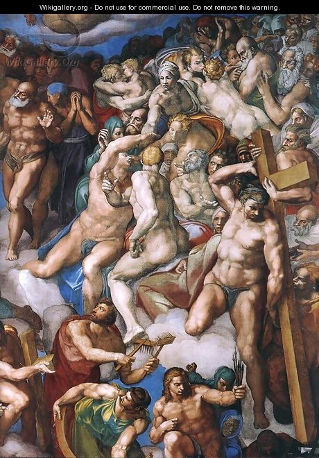 Last Judgment (detail) 9 - Michelangelo Buonarroti