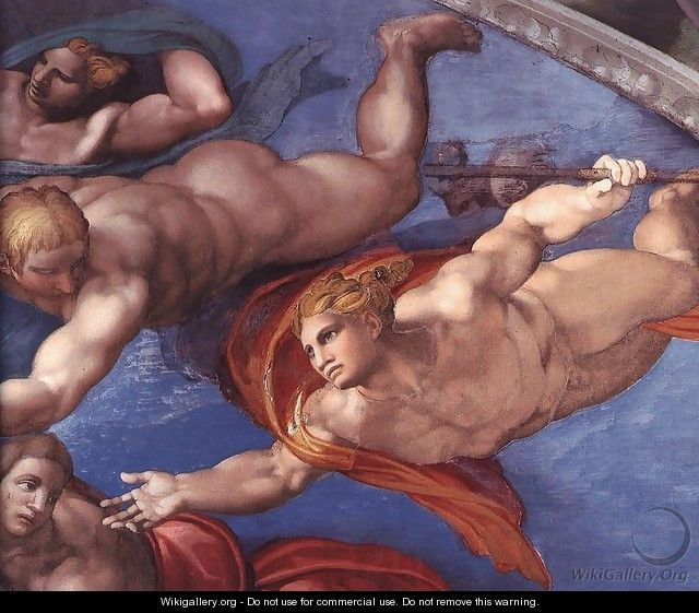 Last Judgment (detail) 8 - Michelangelo Buonarroti