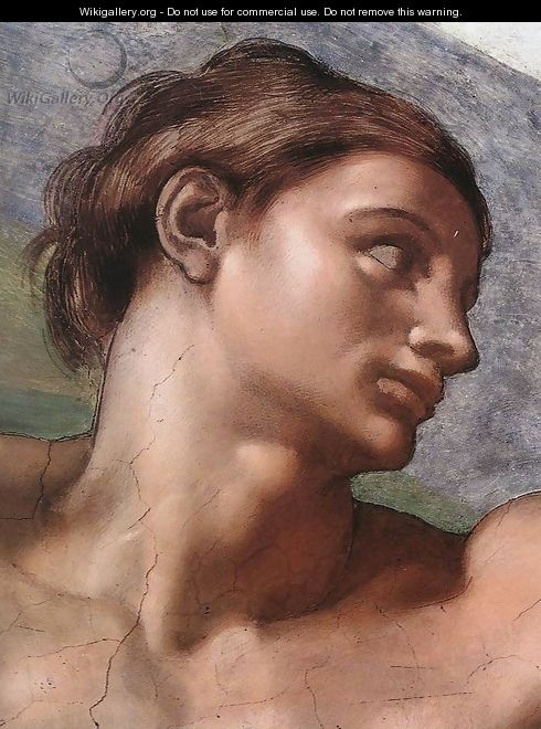 Creation of adam detail michelangelo buonarroti wikigallery org
