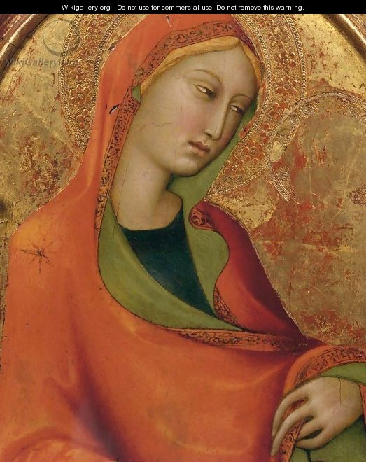 St Mary Magdalen (detail) - Lippo Memmi
