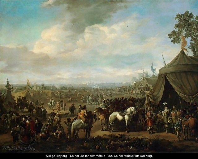 Flemish Town Sieged by the Spanish Soldiers - Johannes Lingelbach