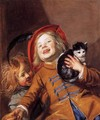 Two Children with a Cat - Judith Leyster