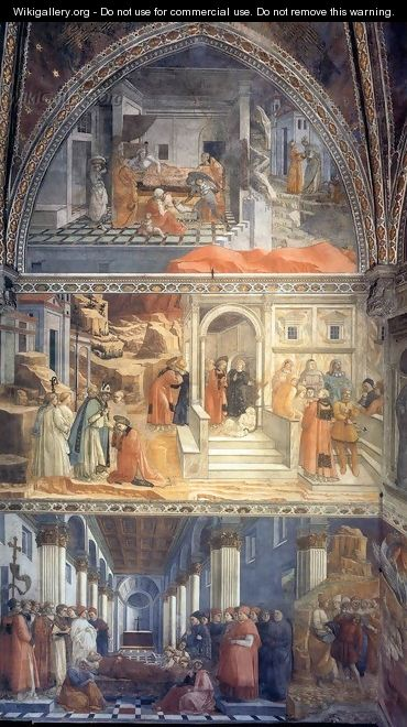 View of the left wall of the main chapel - Filippino Lippi