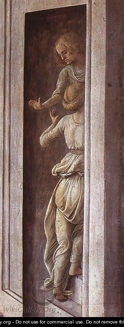 Annunciation with two Kneeling Donors (detail) 2 - Filippino Lippi
