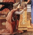Annunciation with two Kneeling Donors (detail) - Filippino Lippi