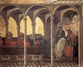 Predella panel The Approval of the New Carmelite Habit by Pope Honorius IV - Pietro Lorenzetti
