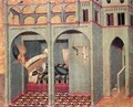 Predella panel The Annunciation to Sobac - Pietro Lorenzetti