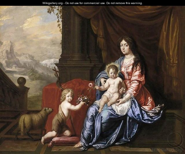 Virgin with Child and the Infant St John the Baptist - Victor Honore Janssens