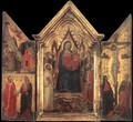 Madonna Enthroned with Angels and Saints 2 - Jacopo Del Casentino