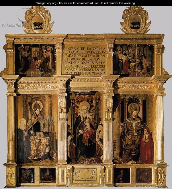 Retable of St Anne - Jaume Baco Jacomart