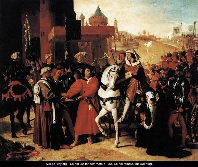The Entry of the Future Charles V into Paris in 1358 2 - Jean Auguste Dominique Ingres